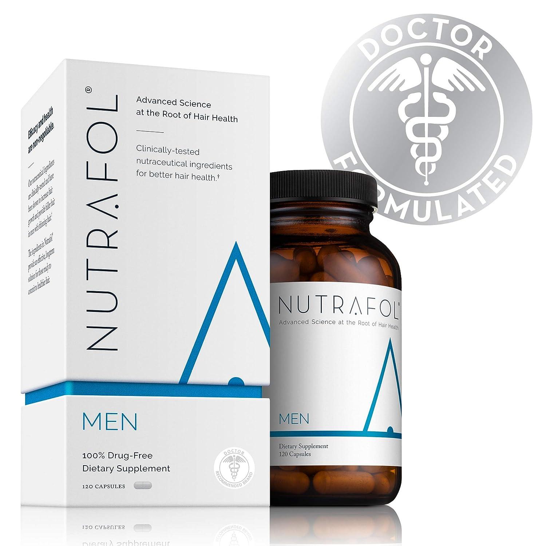 Hair Loss Thinning Supplement – Men's Hair Vitamin for Thicker Healthier Hair Nutrafol NutraMen