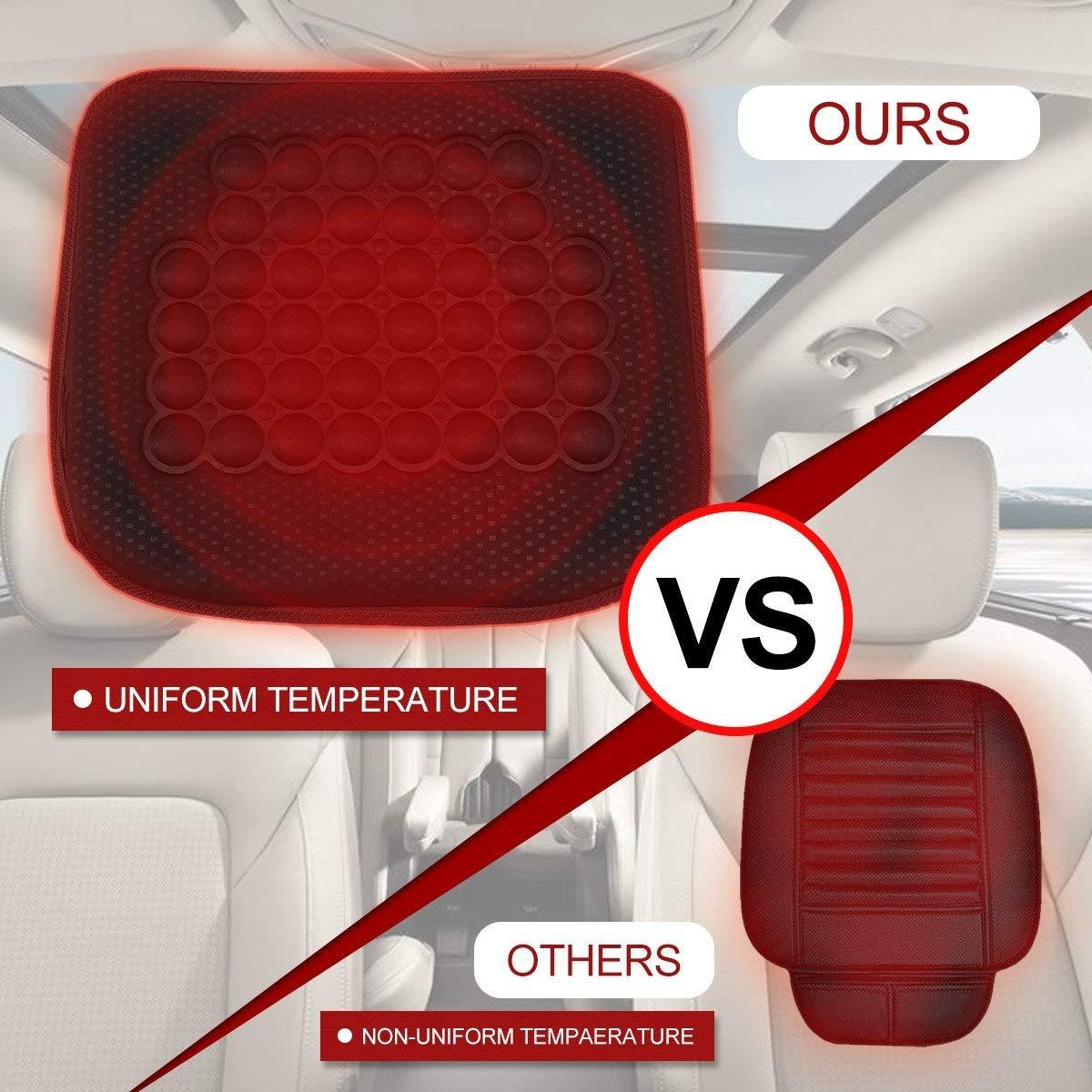 Tvird Heated seat Cushion,Seat Warmer,Car seat Cushion,Auto seat Cushions 12V Ultra Comfortable Heating Car Seat Cushion Black,Adjustable Temperature