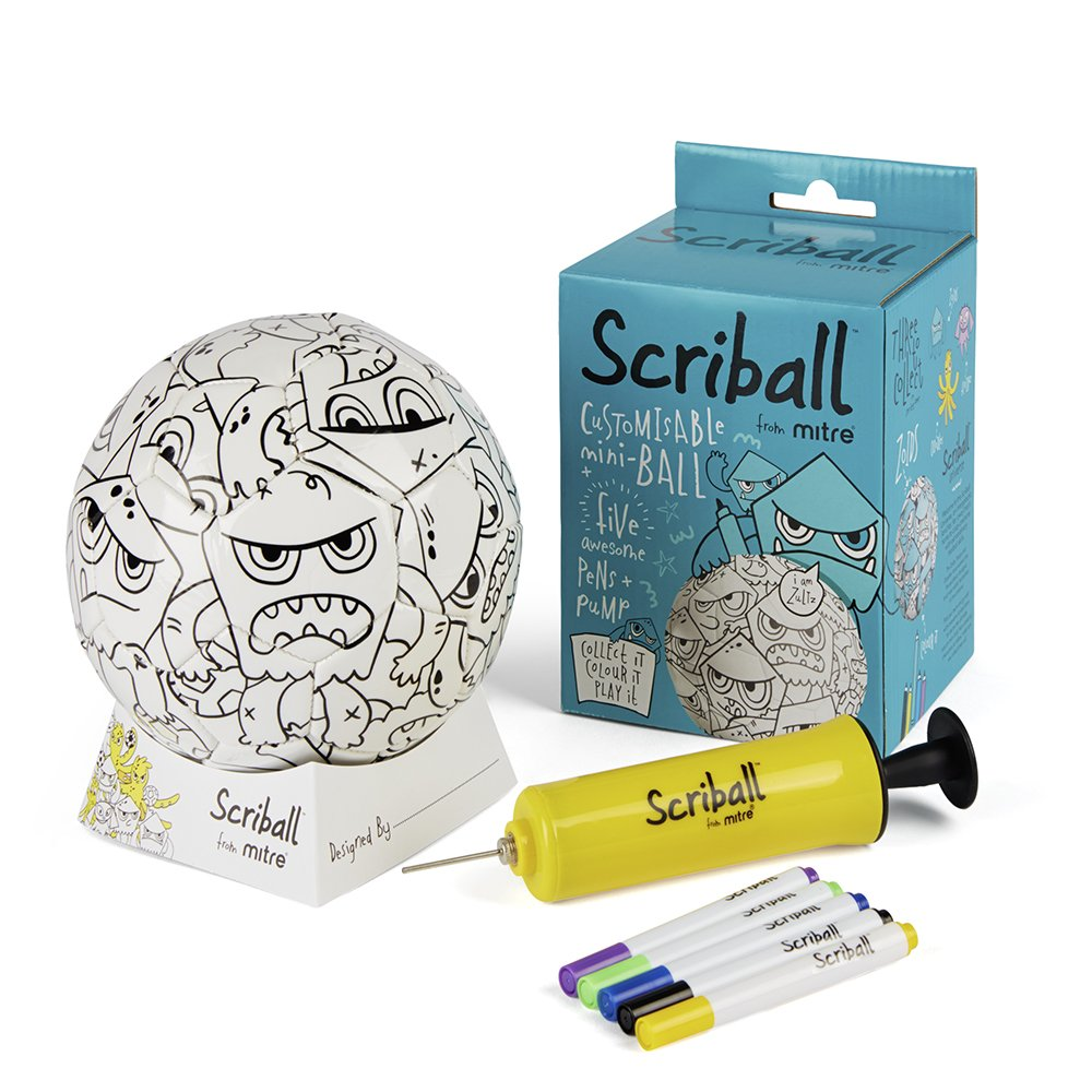 Scriball Mitre Personaliseable Mini Football, Fophi: Amazon.co.uk ...