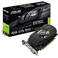 Asus NVIDIA GeForce GTX 1050 PH-GTX1050TI-4G 4 GB GDDR5 128 Bit Memory HDMI/DP/DVI PCI Express 3 Graphics Card - Black