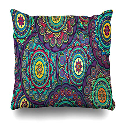 Amazon.com: Ahawoso Throw Pillow Covers Cases Cosmos ...