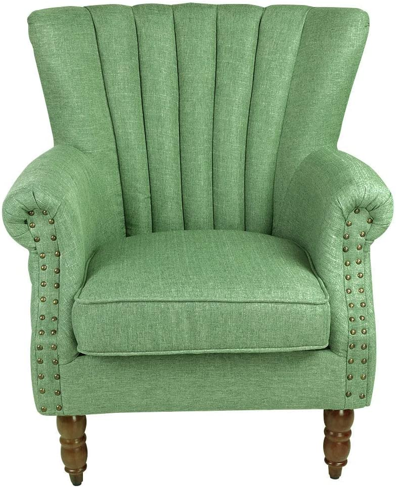 Magshion Elegant Design Fabric Tufted Club Accent Chair