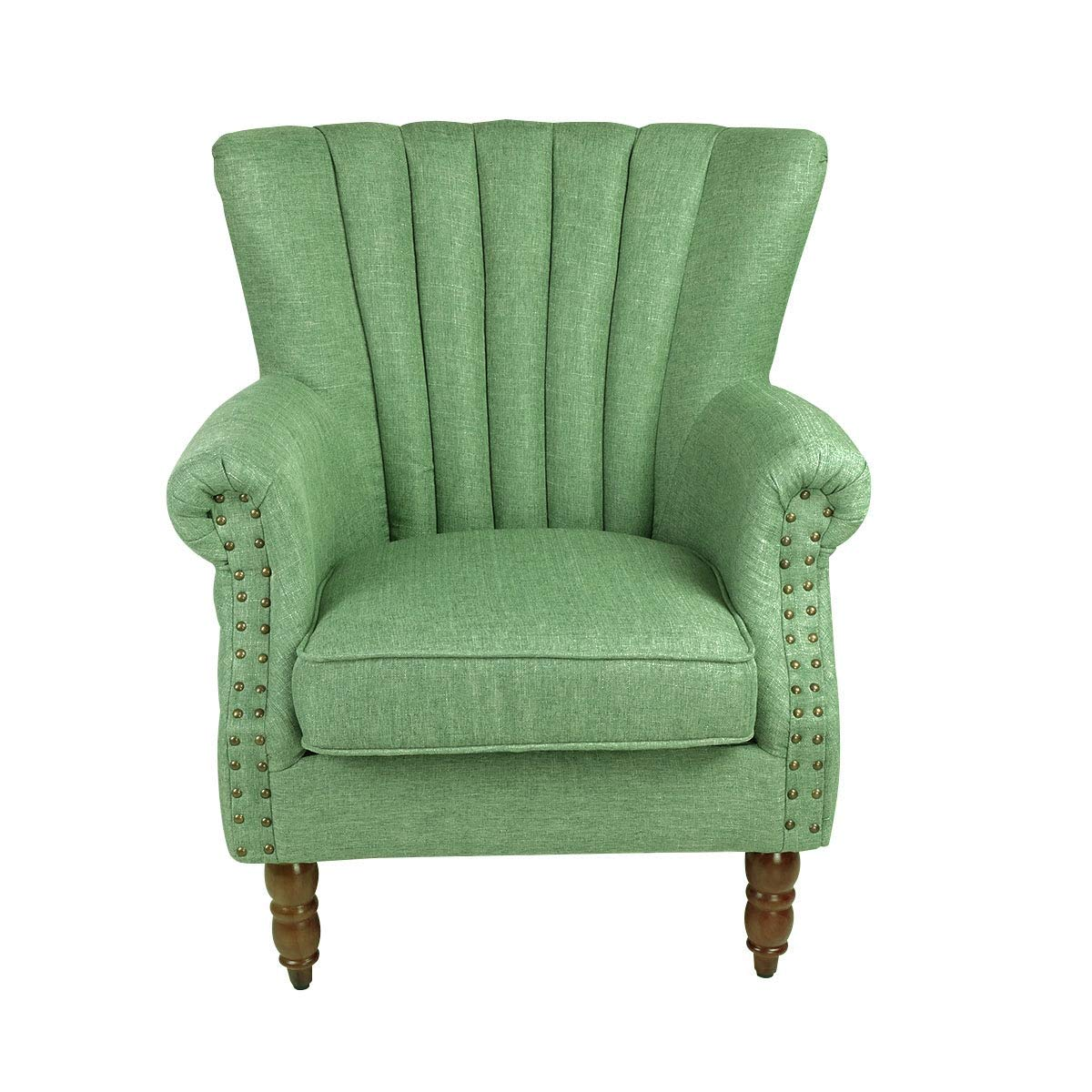Magshion Elegant Design Fabric Tufted Club Accent Chairs, Green