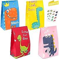 Dinosaurus Feesttassen,Kleurrijke Snoepzakken, Verjaardagspapieren Geschenkzakjes, Kleurrijke Snoepzakjes, Dino Papieren…