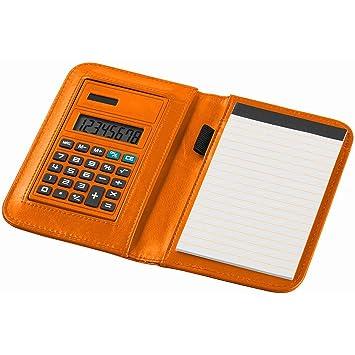 Notebook para notas con 20 hojas A6 a rayas y calculadora ...