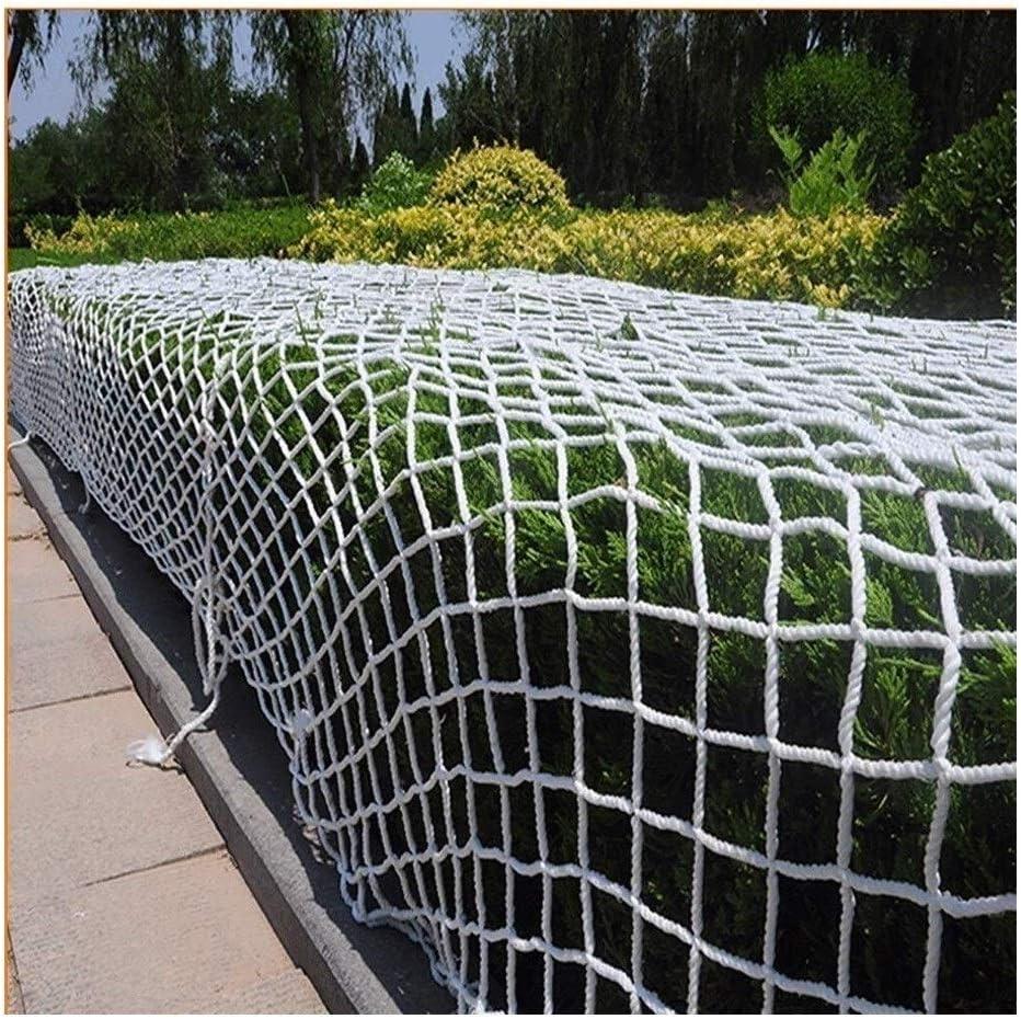 ガーデンクライミングネット、屋外フェンスネット、子供用階段落下防止ネットバルコニー安全保護ネット建築工事ネットワークホワイトナイロンロープ織りメッシュ耐引裂き1x10m (Size : 10*10M(33*33ft))