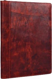 STILORD 'Julius' Vintage Cartella porta Documenti e per Tablet 12 Pollici Organzier rigido Portadocumenti in vera Pelle, Colore:kara - marrone
