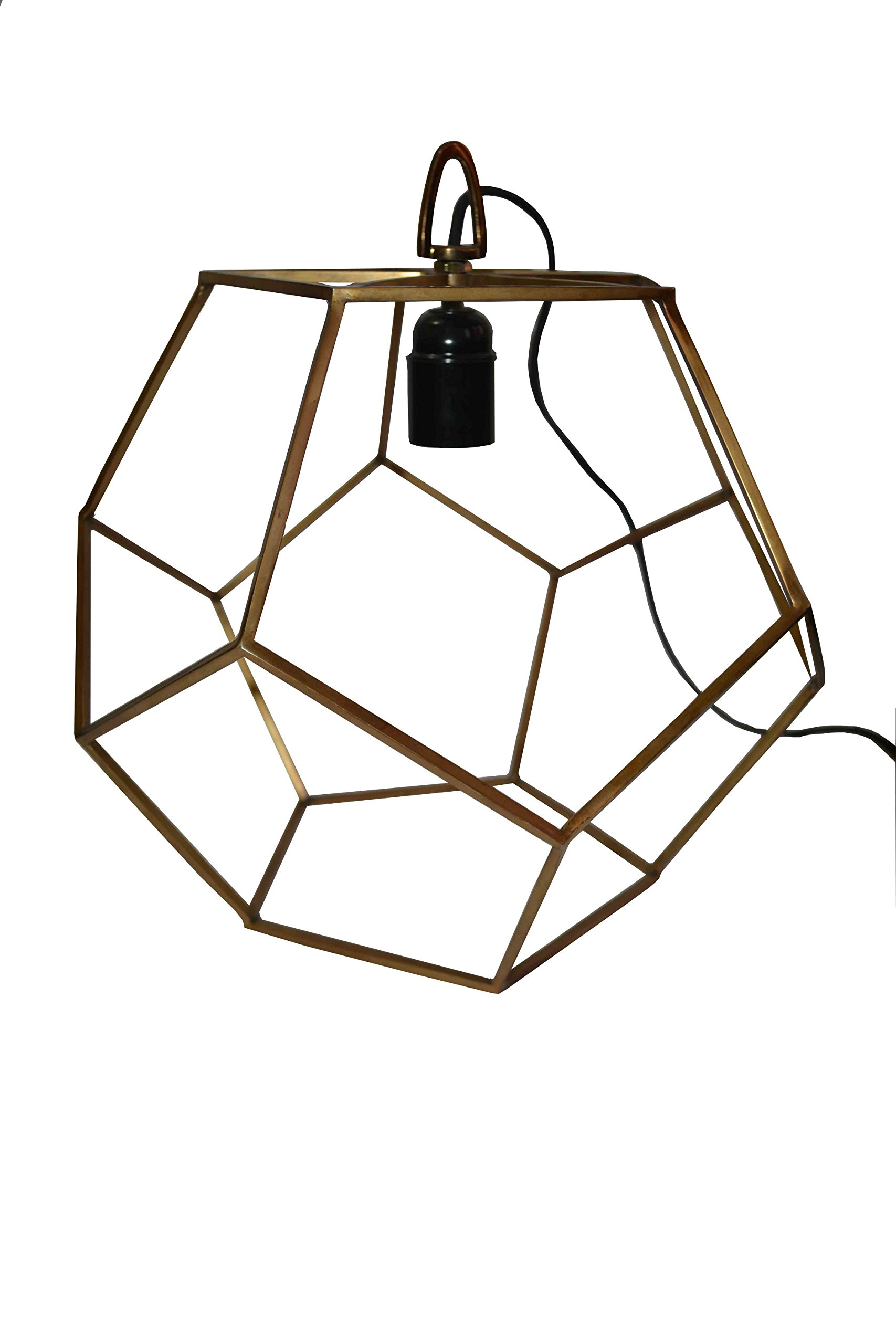 Designer Industrial Metal Cage Lamp Wrought Iron Shade Modern Hanging Pendant Light