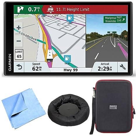 Garmin Rv 770 Na Lmt S Rv Gps Navigator For Camping W/ Dash Mount + Case Bundle Includes Nav Mat Portable Gps Dash Mount, Pocket Pro Xl Hardshell Case And Cleaning Cloth by Garmin