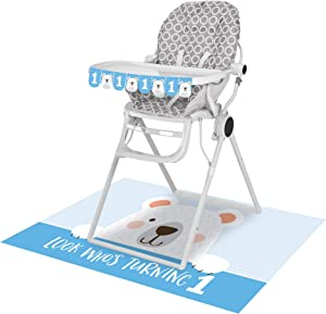 Creative Converting Party Supplies, Bear Party 1St Birthday High Chair Kit, Birthday Decor, Multicolor, 26
