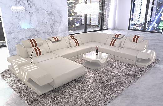 Sofa Dreams Leder Wohnlandschaft Venedig Xxl Mit Beleuchtung Amazon