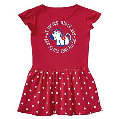 4e4811400ee9f Amazon.com: inktastic - 1st 4th of July Holiday Unicorn Infant Dress 29abf:  Clothing