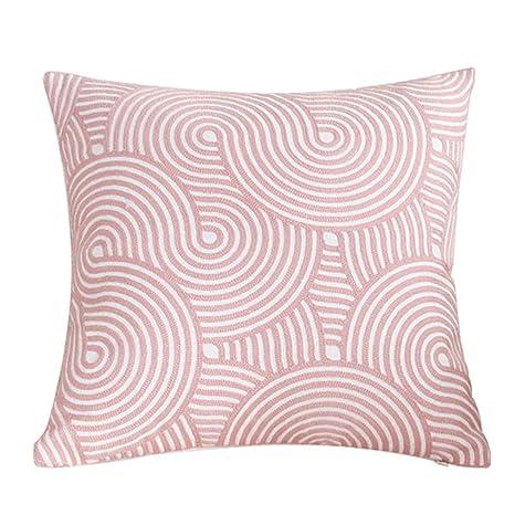 TREESTAR 1pcs Arte Rosa Bordado Trigo Bubble Cuadrado Funda de Almohada Funda de Almohada Protección 45 × 45 cm