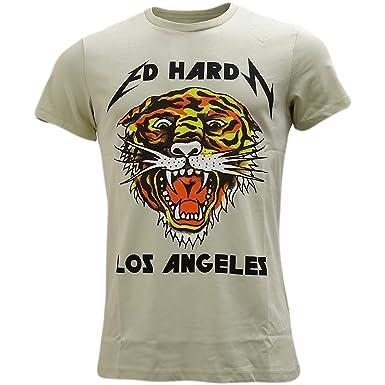 Ed Hardy Stone Grey Los Angeles - Tiger Logo T-Shirt - Rock Cat XL