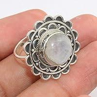 Moonstone Gemstone 925 Sterling Silver Rings Handmade Jewelry