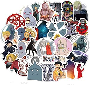 Fullmetal Alchemist Cartoon Japanese Anime Stickers Lovely Boy and Girl Sticker Laptop Computer Bedroom Wardrobe Car Skateboard Motorcycle Bicycle Mobile Phone Luggage Guitar DIY Decal