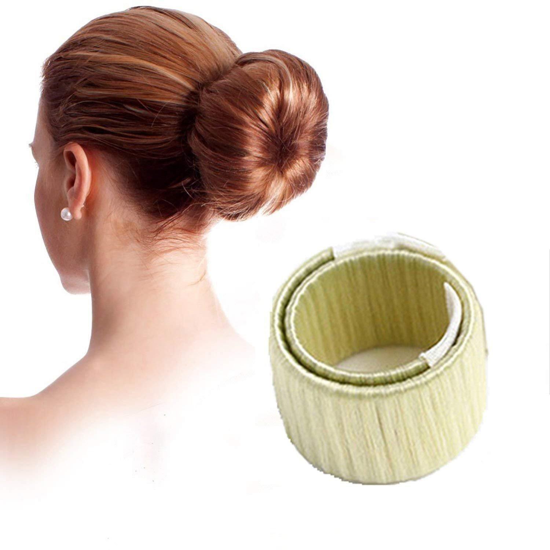 LAAT Peluca Mujer Círculo Pelo Moño Herramienta de Pelo Accesorios para el Cabello Size 21 * 2.5cm (Beige)