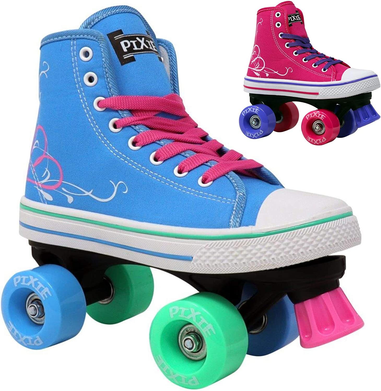 Lenexa Roller Skates for Girls Pixie Kid/'s Quad Roller Skates with High Top Shoe Style for Indoor//Outdoor Skating Made for Kids Easy to Skate Durable