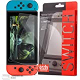 Orzly Glass Screen Protectors Compatible with Nintendo Switch - Premium Tempered Glass Screen Protector Twin Pack [2X Screen