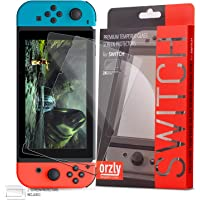 Orzly Glass Screen Protectors Compatible with Nintendo Switch - Premium Tempered Glass Screen Protector Twin Pack [2X…