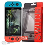 Orzly Glass Screen Protectors compatible with Nintendo Switch - Premium Tempered Glass Screen Protector TWIN PACK for 6.2...