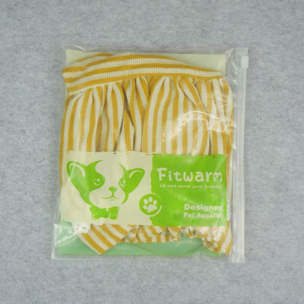 Fitwarm Flowers Pet Clothes for Dog Dresses Vest Shirts Sundress Mustard Yellow Medium