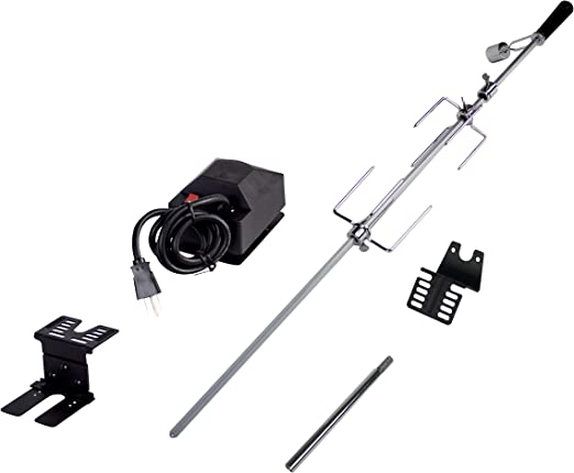 120V Electric Motor 31 1//2 Inch Square Spit Rod Onlyfire 6021 Universal Heavy Duty Grills Rotisserie Kit for Use with Most 2-3 Burners