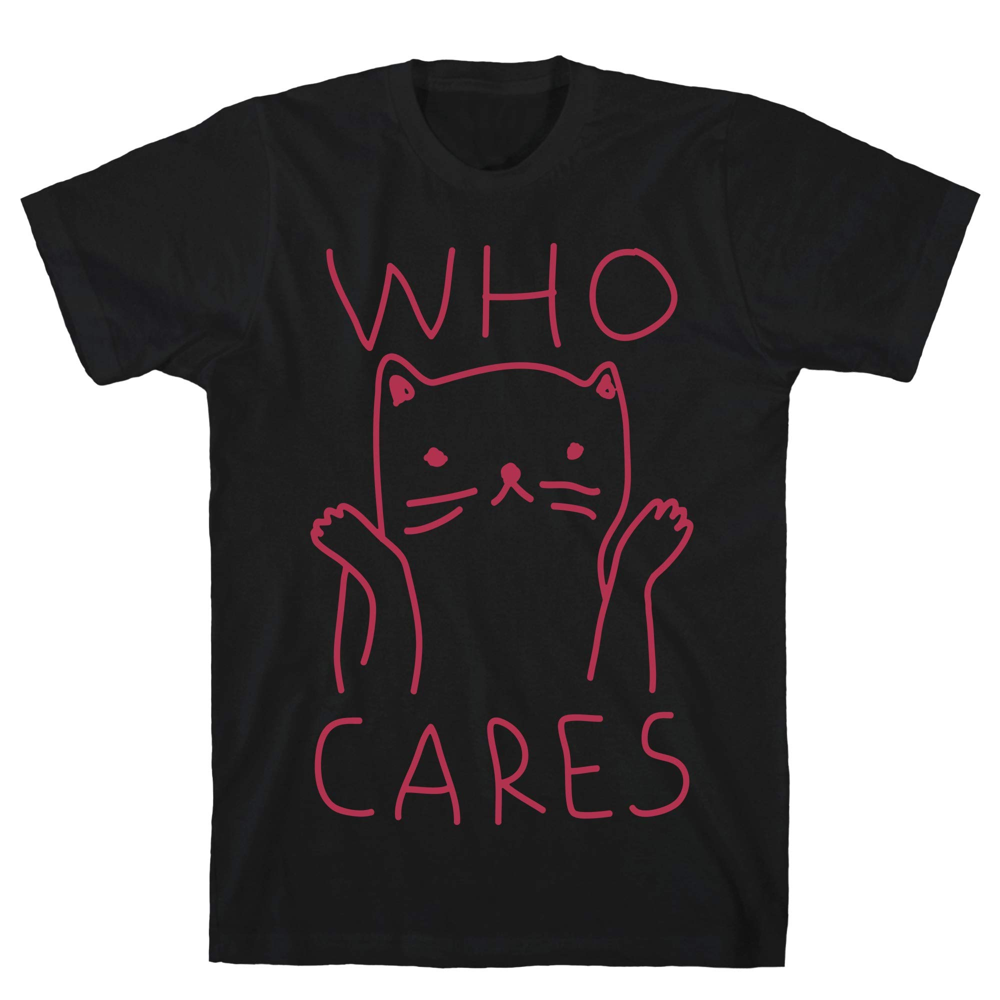 Who Cares Cat Tee 8842 Shirts