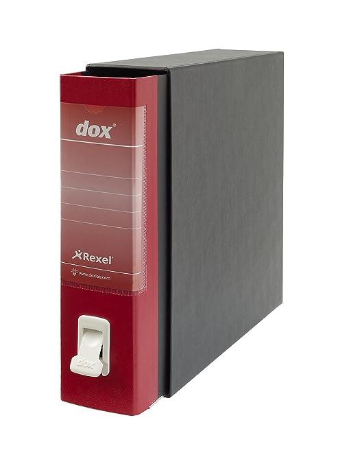 Rexel Dox 2 folio - Archivador de anillas con palanca (formato A4 y A4+)
