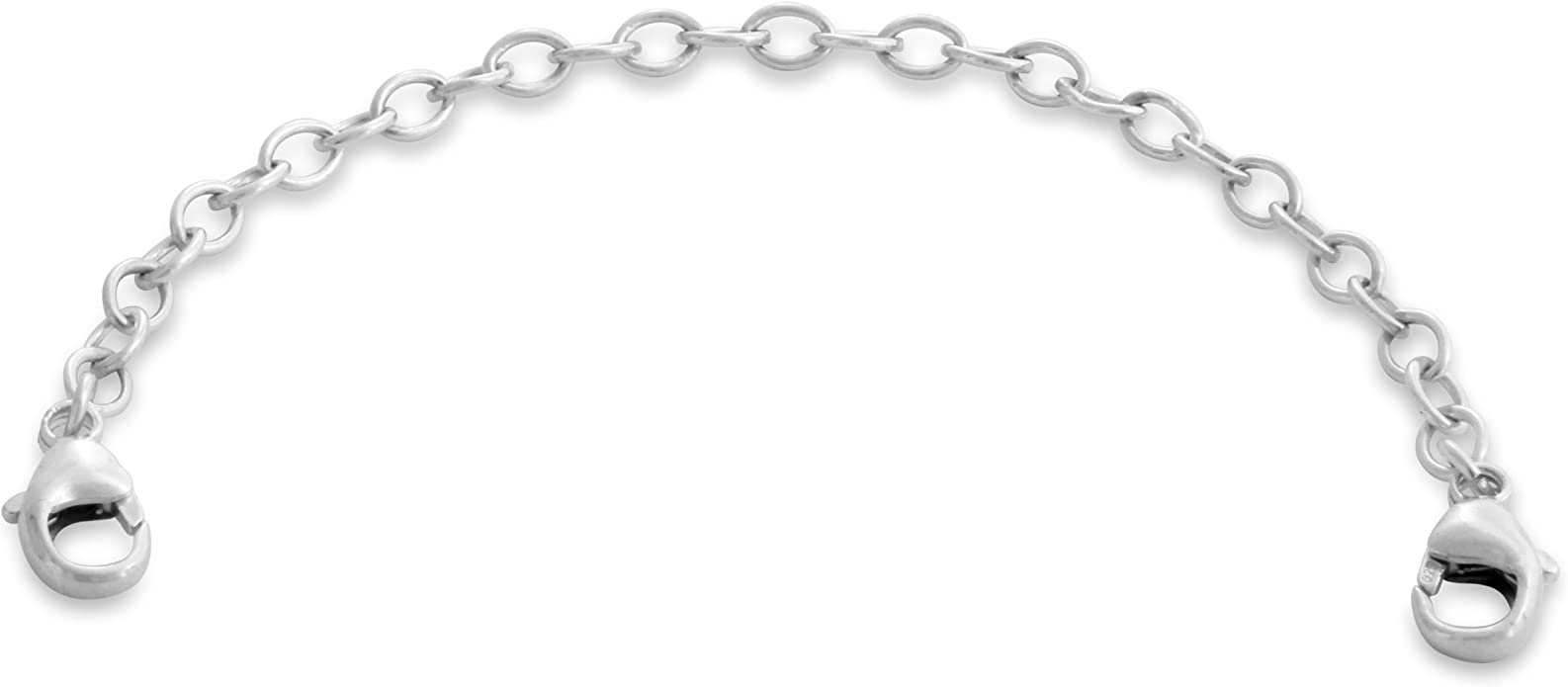"""Solid .925 Sterling Silver Necklace Extender Safety Chain 3/"""" Inches FREE POST"""