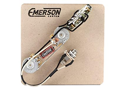 emerson custom 3 way prewired kit for fender telecasters 250k pots