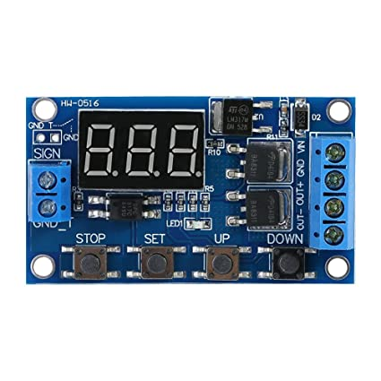 DC 5V-36V Timer Module Trigger Cycle Delay Timer Switch Turn On/Off Relay  Module with LED Display