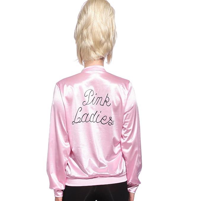 Chaqueta de Pink Lady Estilo Retro Disfraz de Grease Pink ...