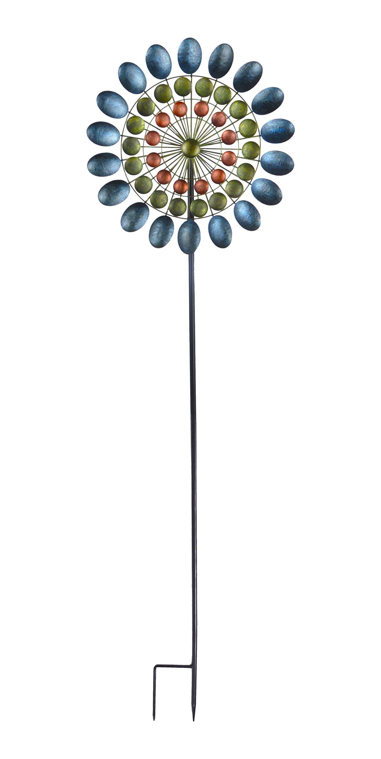 Continental Art Center CAC3417750 Three Layered Antique Colored Kinetic Spinner
