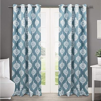 c15ed58f49 Amazon.com  Exclusive Home Medallion Blackout Grommet Top Curtain ...