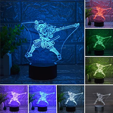 Star Wars Imperial Stormtrooper 3D Night Light LED USB Home Decor Table  Lamp Touch Remote Control