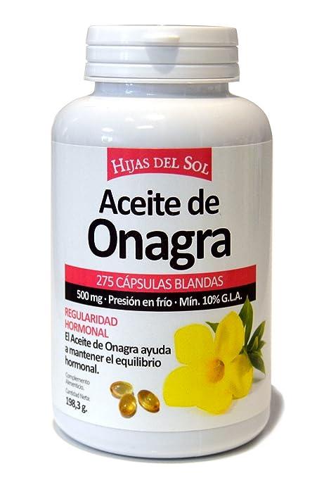 Aceite de Onagra 500mg | Para la salud del corazón y el equilibrio hormonal | 275