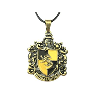 Harry Potter Hufflepuff Casa diseño del escudo collar w/caja ...