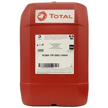 Total Rubia TIR 8900 10w40 - Aceite de motor sintético (20 L ...