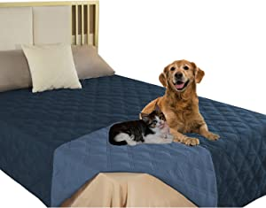 SUNNYTEX Waterproof & Reversible Dog Blanket Bed Cover for Pet Hair Sofa, Couch Cover Furniture Protector