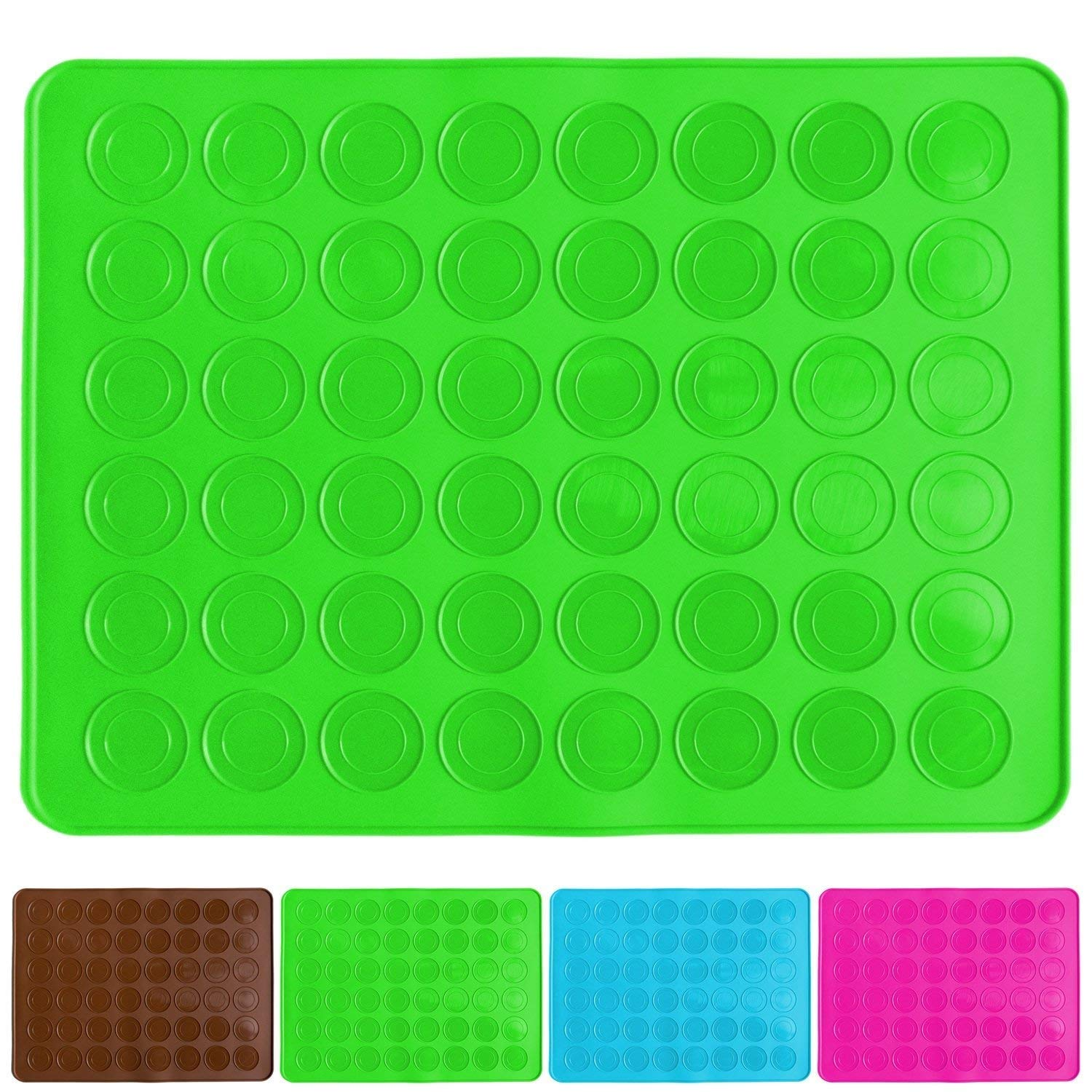 Belmalia macaron silicone baking mat for 24 perfect macarons, 48 moulds, non-stick coated, 38x28cm