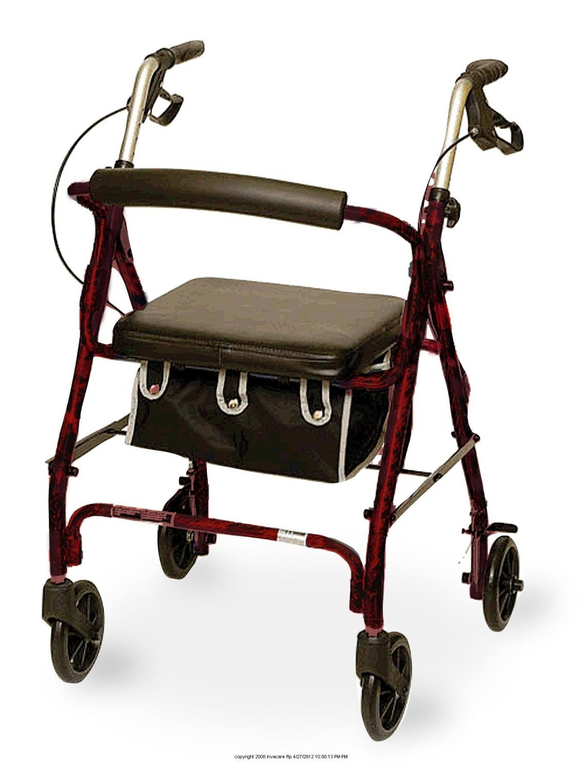 Invacare Supply Group Junior Sized Rollator w/ Loop Brakes & Basket