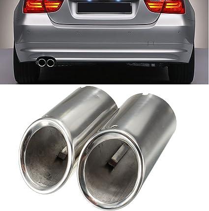 2 X Tail Muffer Exhaust Tip Pipe Titanium Black For BMW E90 E92 325 328i 3