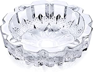 SICOHOME Glass Ashtray Round Diameter 5.9""