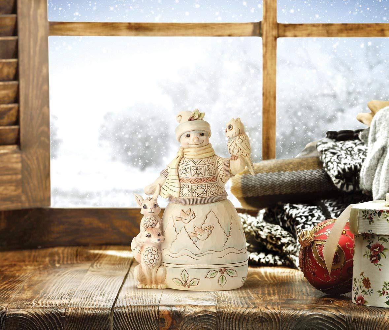 Enesco Jim Shore Heartwood Creek Woodland Snowman with Owl