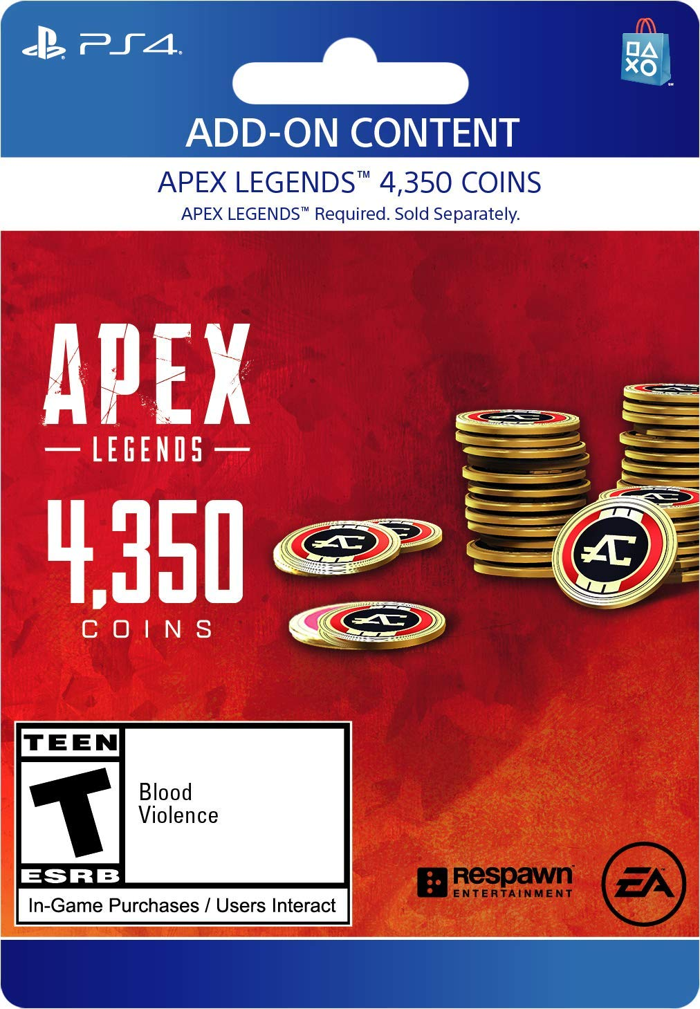 Apex Legends - 4,350 Coins Virtual Currency - PS4 [Digital Code] by Electronic Arts