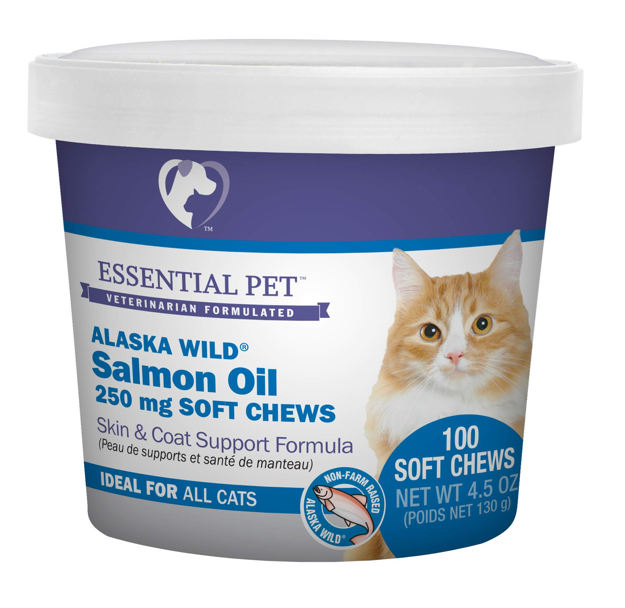 Essential Pet Products Alaska Wild Salmon Oil Soft Chews with Natural Omega-3 Fatty Acids for Cats by Essential Pet Products
