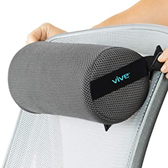 Amazon Com Vive Lumbar Roll Cervical Cushion Support Pillow Lower Back Pain Relief In Car Office Chair Computer Firm Ergonomic Mesh Portable Travel Bolster Thoracic Low Rest Posture Corrector