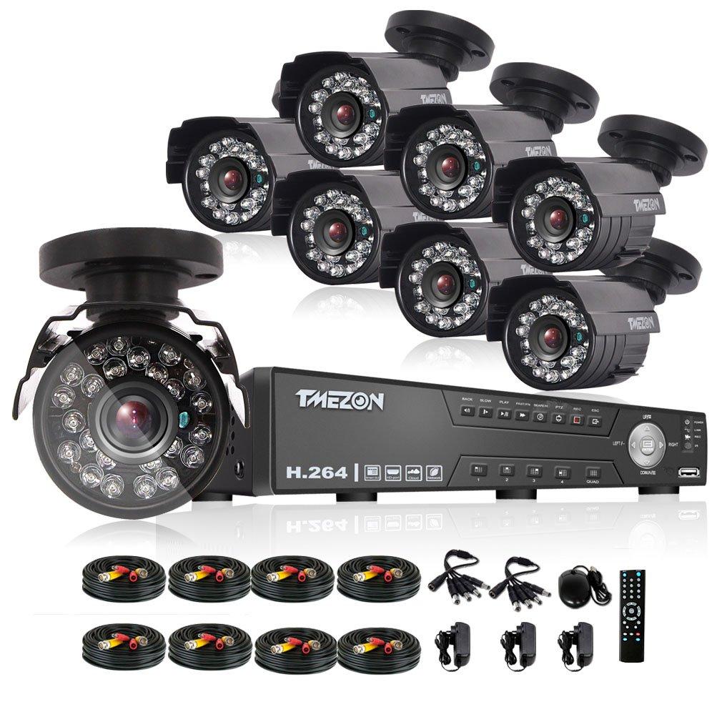 TMEZON AHD防犯カメラ8台セット 130万画素 赤外線LED24個 3.6MMレンズ&AHD レコーダー HDDなし(ブラック) B01F56RUPQ カメラ8台+8ch 1080Nレコーダー(HDDなし) カメラ8台+8ch 1080Nレコーダー(HDDなし)