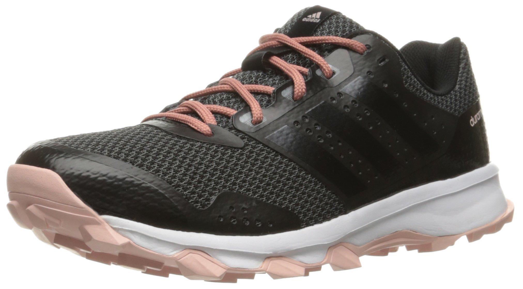 adidas Women's Duramo 7 Trail W Running Shoe, Utility Black F16/Black/Vapor Pink F16, 6.5 M US